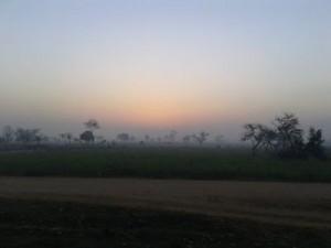 Yamuna Expressway, early morning.