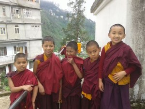 Young Lamas from Rumtek monastery.