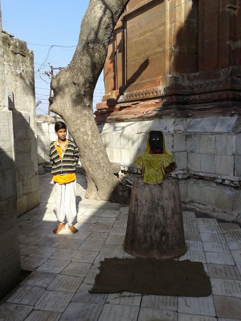 young priest in vrindavan